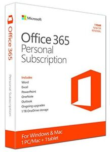 Microsoft Office 365 Personal 1-yr subscription