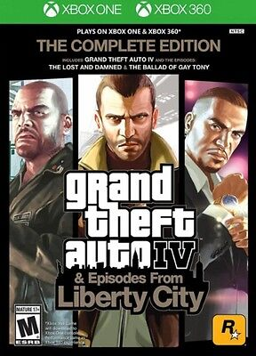 Grand Theft Auto Iv Gta 4 Complete Edition Xbox 360 Xbox One New Ships Fast