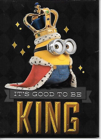 Minions Movie Bob Figure as King Minion Refrigerator Magnet NEW UNUSED