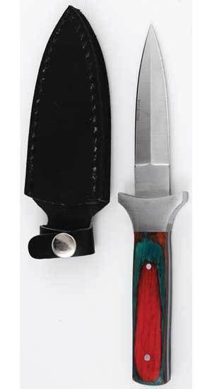 "Slim Multi Colored Wood Handle 7"" Knife Dagger Ritual Athame w/ 3.5"" Steel Blade"
