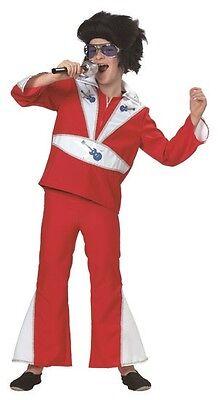 ★ King of Rock & Roll Elvis Musik Kinder Kostüm,Kinderkostüm Hippie 116 Popstar (Elvis Kostüme Kinder)
