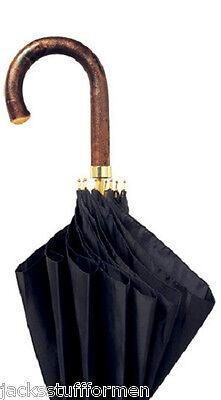 Concord Sierra Chestnut Handle Handcrafted Mens Black Umbrella