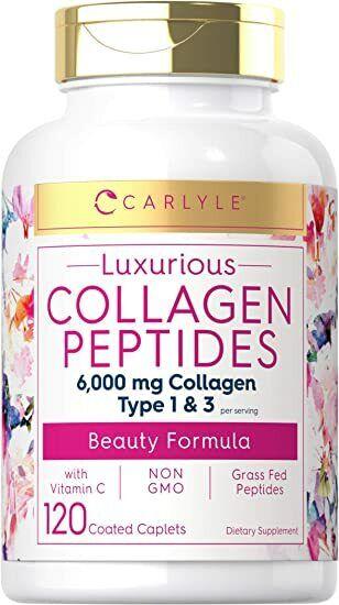 120 Capsulas Mejores Pastillas De Colageno Hidrolizado Colageno Con Vitamina C
