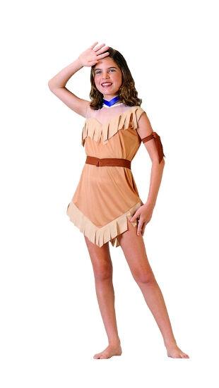 Walt Disney World POCAHONTAS Girls DRESS XS 4 5 Indian COSTUME ResortsPocahontas Disney Costume Child