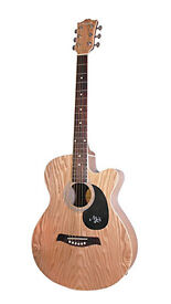 Martin Smith Electro Acoustic Natural Matt Willow Wood Guitar W405-E-N As New