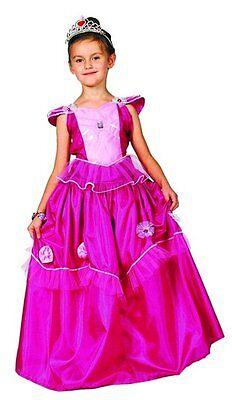 Prinzessin Kostüm für Kinder Diana dunkelrosa Prinzessinnenkleid für Mädchen