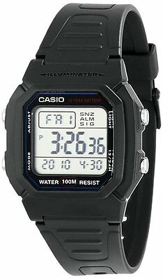 Casio Mens Classic Digital Sport Wrist Watch Square Day Date Water Resistant
