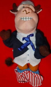 MEANIE-President-Bill-BULL-CLINTON-Spoof-of-Bean-Bag-Toys-Plush-NEW-with-TAG