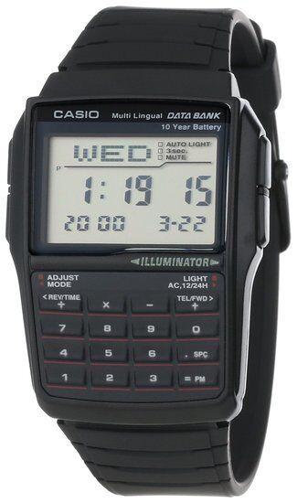 Casio DBC32-1A 25-PAGE Classic Databank Calculator Watch Illuminator Quartz