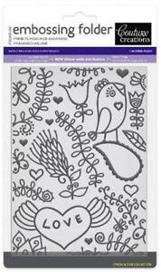 Couture Creations Embossing Folder 5x7 Smooch - $10