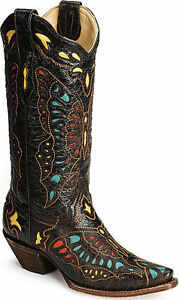 Nocona Mens Square Toe Cowboy Boots Colored Stitching Deep ...  |Cowboy Boots With Colored Tops