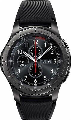 Samsung - Gear S3 Frontier Smartwatch 46mm - Dark Grey - SM-R760NDAAXAR