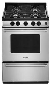 Whirlpool 24 inch gas stove canada WFG500M4HS (WL613)