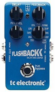 FlashBack Delay and Looper Guitar Effect Pedal