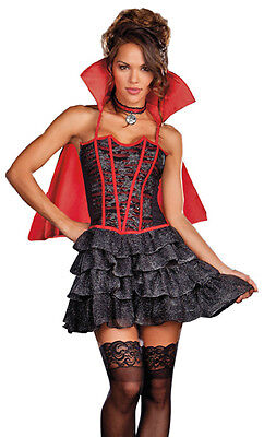 Lady is a Vamp Vampire Costume, Dreamgirl 7603, Adult 3 Piece, Size S, M, L, XL