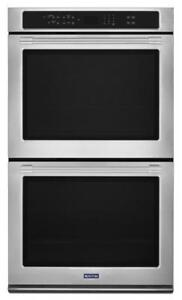 MAYTAG 30-INCH DOUBLE WALL OVEN WITH TRUE CONVECTION MEW9630FZ   (BD-2079)