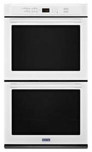 MAYTAG 8.6 CU. FT. 27-INCH WIDE DOUBLE WALL OVEN IN WHITE MEW9627FW (BD-2069)