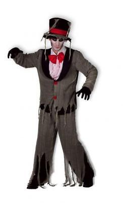 Adults Undertaker Zombie Groom Costume Outfit Grave Digger Halloween - Undertaker Costumes