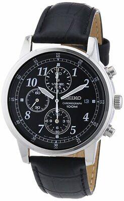 Seiko Classic Chronograph SNDC33 Leather Band Men's Watch