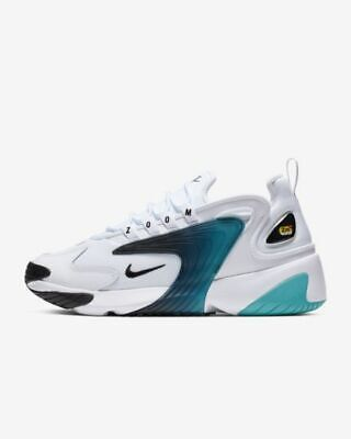 Nike Zoom 2K White Teal Nebula Mens Running Sneakers Sz 10.5 Shoes AO0269-106