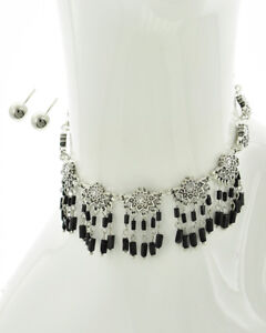 Modern Day Earrings & Necklace Set