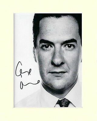 GEORGE OSBORNE CONSERVATIVE CHANCELLOR PP MOUNTED 8X10 SIGNED AUTOGRAPH PHOTO