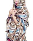 Women Charming Gift Pashmina Colorful Long Embroidery Tas...