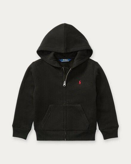 Polo Ralph Lauren Toddler 2T Black Hoodie Full Zip  Sweatshirt Red Horse