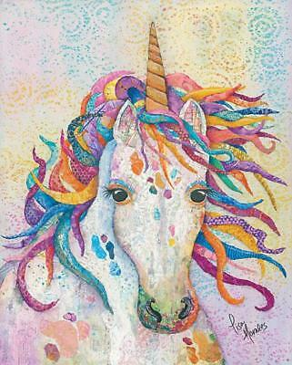Art Print, Framed or Plaque By Lisa Morales - Dazzle - LMAR257 - Unicorn - Lisa Frame