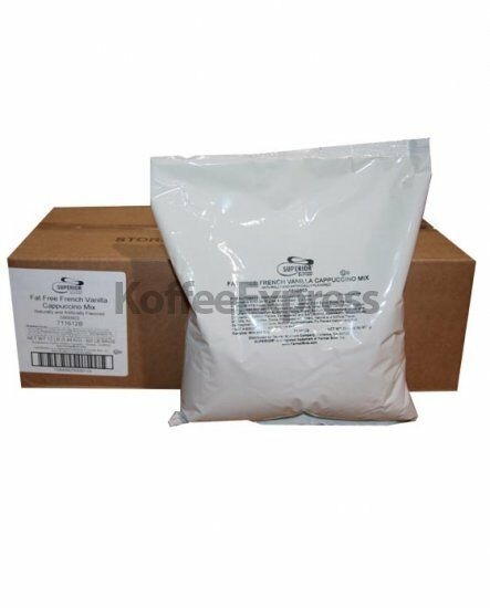 SUPERIOR CAPPUCCINO MIX  FAT FREE FRENCH VANILLA 6 BAGS/2 LBS EACH