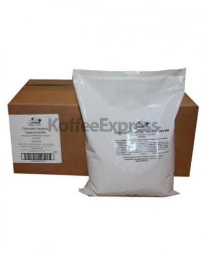 SUPERIOR CAPPUCCINO MIX CHOCOLATE HAZELNUT 6 BAGS/2 LB EACH BY FARMER BROTHERS