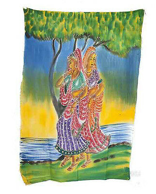 Batik Hanging Woman Hindu 115x 74cm Crafts India Peterandclo 8816
