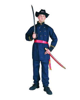 UNION OFFICER ADULT COSTUME CIVIL WAR SOLDIER GENERAL ARMY MENS UNIFORM BLUE RED](Civil War Costumes For Men)