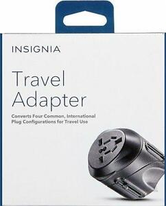 Insignia Travel Adaptor with Surge Protector for use in North America, Austrialia, India Asia, Europe. Fast Charger. NEW