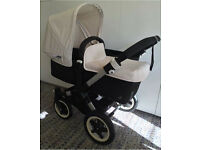 Bugaboo donkey duo nearly new off white