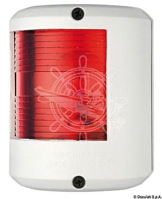 Osculati Utility 78 White Body 112.5 Degrees Left Red Navigation Light 12V