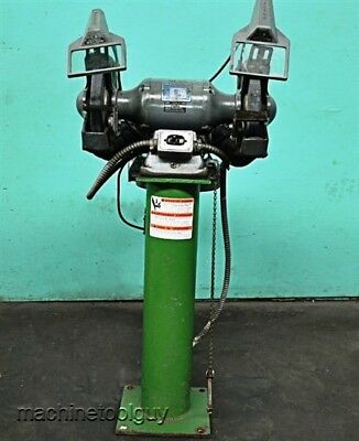Baldor 10 Grinder Industrial Deluxe Pedestal Grinderbuffer With Dust Collector