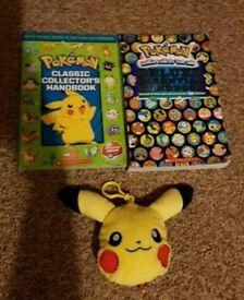 Pokemon handbooks and plush wallet