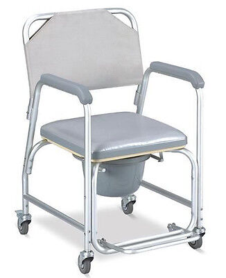 Invacare 3-in-1 Commode Wheelchair Bedside Toilet & Showe...