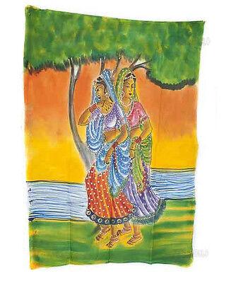 Batik Hanging Woman Hindu 115x 74cm Crafts India Peterandclo 8819