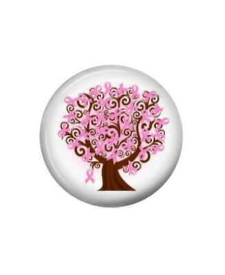 "Breast Cancer Awareness Button Pin - Pink Ribbon  1.5"" Diameter"