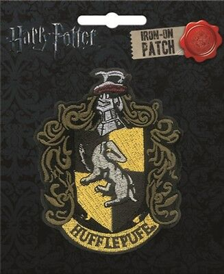 Harry Potter House of Hufflepuff New Crest Logo Embroidered Patch NEW UNUSED ATB