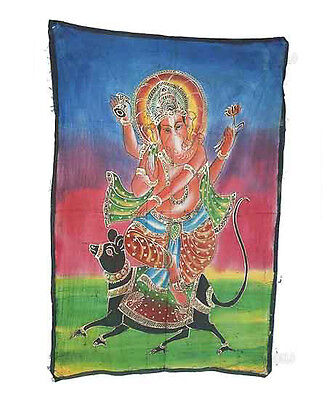 Batik Hanging Ganesh Elephant 115x 74cm Crafts India Peterandclo 8821
