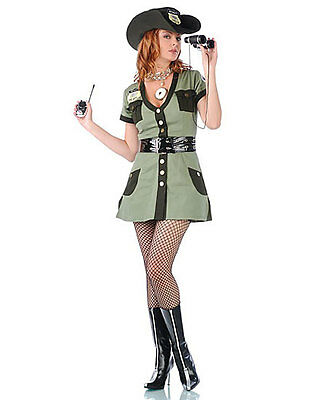 New Seven Till Midnight 10107 Border Babe Officer Sexy Adult Halloween Costume - Halloween Costume Border