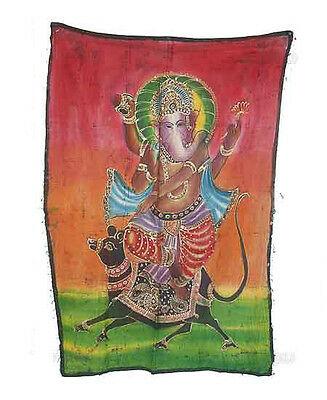Batik Hanging Ganesh Elephant 115x 74cm Crafts India Peterandclo 8831