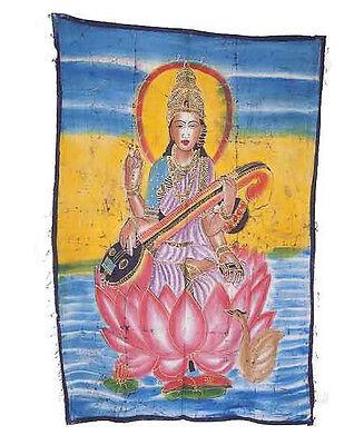 Batik Hanging of Saraswati India 115x 74cm Crafts India Peterandclo 8825