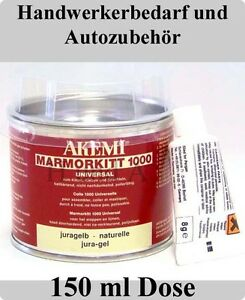 AKEMI Marmorkitt 1000 Universal / 150 ml Dose / JURAGELB / Steinkleber Steinkitt