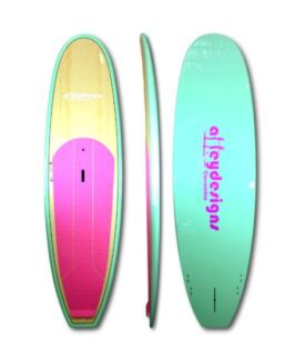 Stand up paddle 11ft pack- mint & bamboo+pink paddle.bag,leash