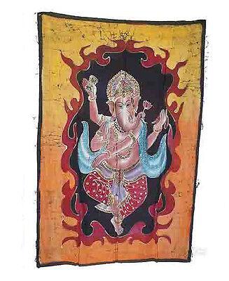 Batik Hanging Ganesh Elephant 115x 74cm Crafts India Peterandclo 8827
