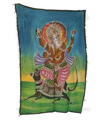 Batik Hanging Ganesh Elephant 115x 74cm Crafts India Peterandclo 8822